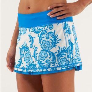 Lululemon | Run : Chase Me Skirt Short Blue Floral